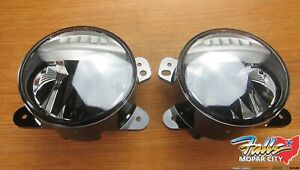 2018 2020 Jeep Wrangler Jl Gladiator Led Fog Light Kit New Mopar Oem