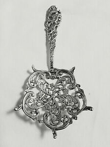 Antique Victorian Fancy Sterling Silver Pierced Cast Bonbon Spoon 5 Nm