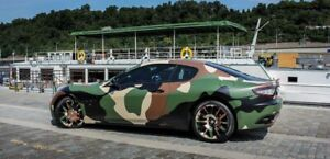 Green Army Camo Camouflage Vinyl Film Wrap Sticker Bubble Free Air Release