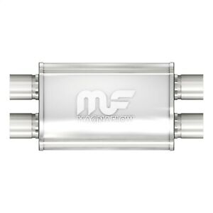 Magnaflow 11386 Stainless Muffler 2 5 Dual Inlet dual Outlet 14 Body Length