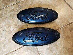 2015 20 Ford F150 Grill And Tailgate Emblem Custom Blue Jean And Black Combo