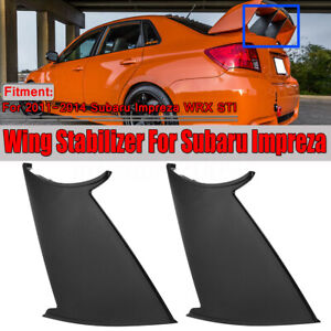 2x Rear Wing Spoiler Support Stabilizer Stiffi For Subaru Wrx Sti Sedan 11 14
