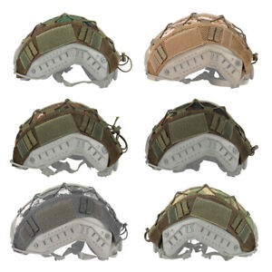 Tactical Helmet Cover for FAST Helmet Camo Hunting Airsoft Headwear Gear
