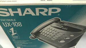 Sharp Ux 108 Fax Machine Pre owned In Box Factory Packed Used With Book Clean