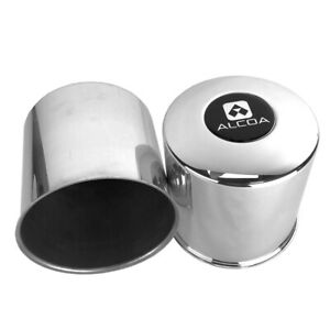 Two Alcoa 3612 Axel End Hub Covers For Ford 16 Dually Rims 4 88 Bore 4 75 Tall