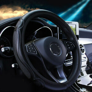 38cm Car Steering Wheel Cover Leather Breathable Anti Slip Cover Accessories