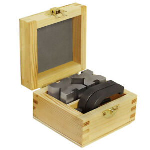 V Blocks And Clamps Set 1 5 8 Inch X 1 1 4 Inch X 1 1 4 Inch With Wooden Case