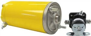 New Yellow Snow Plow Lift Motor For Meyer E47 Pump 12 Volts 3 16 Slot Sm48826