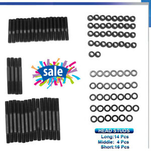 Cylinder Head Stud Kit Standard Length For Small Block Chevy Sbc 305 327 400 350