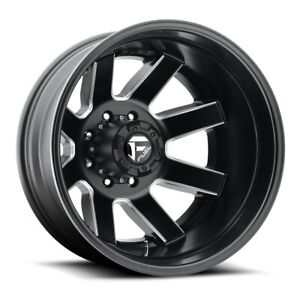 17 Inch Black Wheels Rims Chevy Silverado 3500 Dually Fuel Maverick D538 8x210 4
