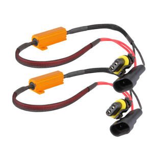 2x 9005 Led Drl Fog Light Canbus 50w 6ohm Load Resistor Wiring Canceller Decoder