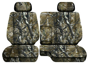 Camo Woods Car Seat Covers Fits 95 00toyota Tacoma Front Bench 60 40 Seats 2hr