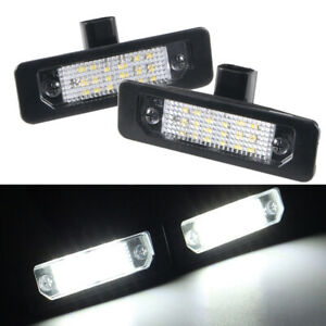 Pair Led Rear Number License Plate Light For Ford Mustang Focus Fusion Lincoln