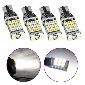 4x 6000k White 939 912 T15 Error Free Led Bulb Reverse Backup Turn Signal Light