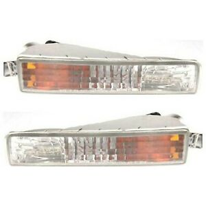 Ho2530123 Ho2531123 Set Of 2 Turn Signal Lights Lamps Left and right Pair