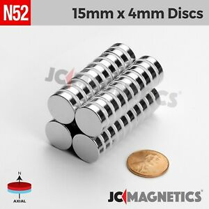 15mm X 4mm 5 8 X 5 32 N52 Strong Rare Earth Neodymium Magnet Fridge Craft Disc