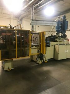 225 Ton Husky G225 Rs50 50 Injection Molding Machine dryer And Loader Included