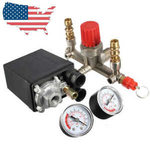 Heavy Duty 125 Psi 230v 16a Air Compressor Pressure Control Switch Gauges Relief