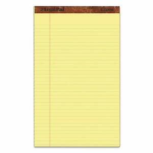 8 5x14 Inch Canary Yellow Wide Rule Writing Legal Pad 12 pack 50 sheets Save