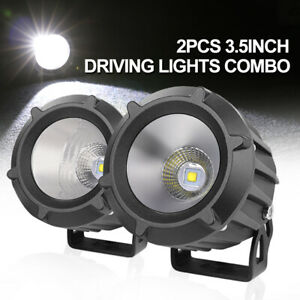 Super Bright 4 Inch Cree Led Fog Lights Spot Flood Combo Bumper Driving Pods Bar