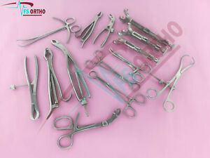 Small Bone Clamp Set Surgical Orthopedic Instruments Germany Staniless Steel