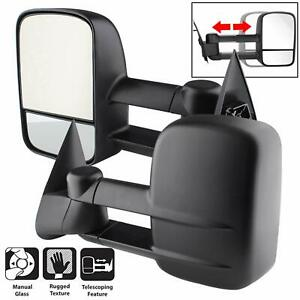 For 99 07 Silverado Sierra Tahoe Extend Dual Arm Telescoping Tow Side Mirrors