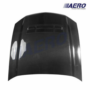 10 14 Mustang Shelby Gt Gt500 Style Carbon Fiber Heat Extractor Hood Aero