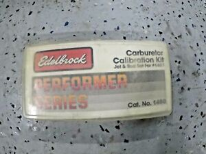 Edelbrock Calibration Kit For Edelbrock 1407 1410 1412 1413 Performer Series