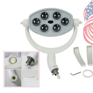 Portable Dental Oral Light Led Lamp Suit For Dental Unit Chair 18w 6 Led Usa Fda