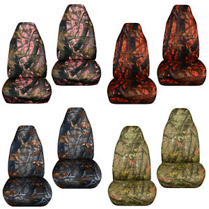Designcover Front Car Seat Covers Woods Camo Fits 98 03ford Ranger Bucket Seat
