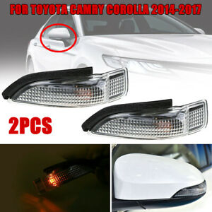 2pcs Car Side Mirror Turn Signal Lights Durable For Toyota Camry Corolla 2014 18