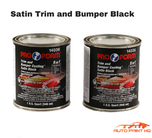 Satin Black Trim And Bumper Coating Auto Paint Ready To Spray 2 Quarts