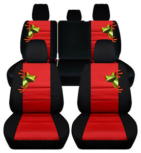Custom Fit Front Rear Car Seat Covers Blk Red Fits Jeep Renegade 2015 2019