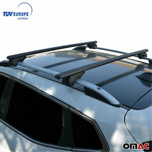 Fits Volkswagen Tiguan 2018 2021 Roof Rack Luggage Carrier Cross Bars Black Alu