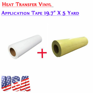 Eco solvent Printable Heat Transfer Vinyl With Application Tape 19 7 x5 Yard