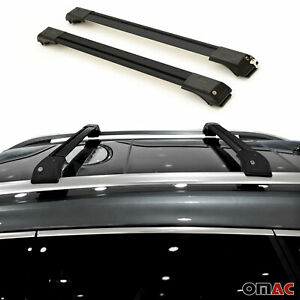 Roof Rack Cross Bars Luggage Carrier Black For Jeep Grand Cherokee 2011 2014