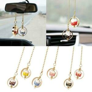 1 Car Rear View Mirror Hanging Decoration Lucky Cat Accessories Auto Pendan G3h9
