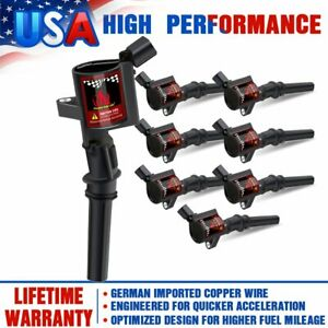 8 Ignition Coil Bobinas Parts Pack For Ford F150 Super Duty 2004 2005 2008 Dg508