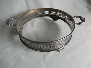 Decorative Silver Plated Dish Serving Ring 3 5 Tall 10 5 Diameter