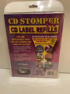 Cd Stomper Pro Cd Label Refills 50 Die cut Adhesive Labels New