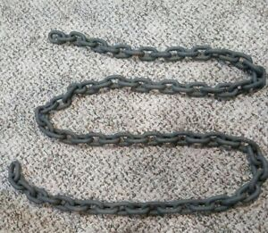 Strong 8 Foot Heavy Duty Steel Iron 3 8 High Security Chain T8 Made N Canada
