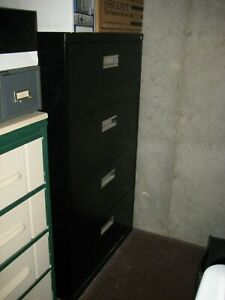 4 drawer Legal Size Lockable Lateral File Cabinet Black Local Pick Up