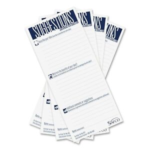 Safeco Suggestion Box Cards 3 1 2 X 8 White 25 Cards pack Pk Saf4231