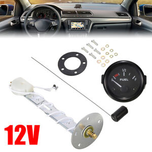 Auto Car Gas Fuel Level Gauge Meter Analogue With Sensor Pointer Indicator 12v
