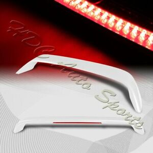 For 1996 2000 Honda Civic Coupe Painted White Rear Trunk Spoiler Wing Led Brake