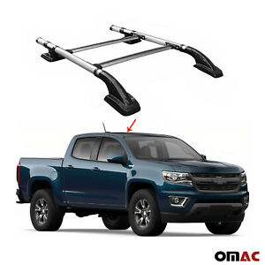 Top Roof Rack Side Rails Bars Alu Silver For Chevrolet Colorado 2015 2020