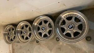 Ultra Rare Bbs Rs Nardi Three Piece Wheels Rims Bmw E36 E34 5x120 Et20