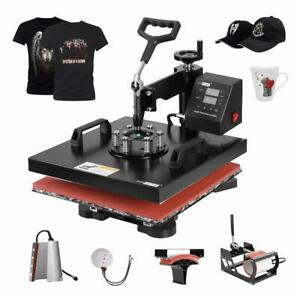 Vivohome 6in1 Heat Press Machine Transfer Digital Sublimation T shirt Mug Hat Us