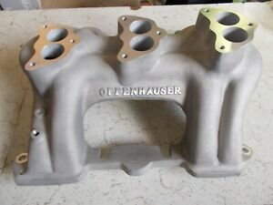 Offy Offenhauser Cadillac Triple Intake Manifold 3 Bolt Carbs