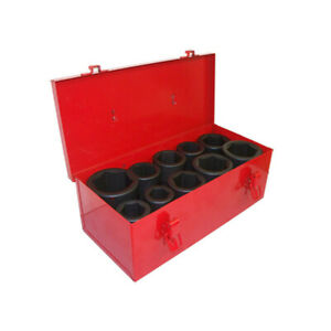 11 Pcs 1 Inch Drive Deep Socket Set With Storage Case